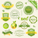 Fototapety Vector Organic Food, Eco, Bio Labels and Elements