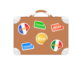 Travel suitcase. Vector illustration
