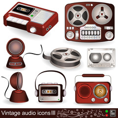 Vintage audio icons 3
