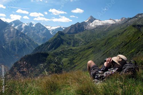 die Berge bewundern - admiring the mountains