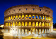The Colosseum at night, Rome, Italy