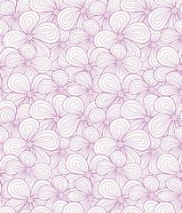 Seamless violet flower pattern. Vector illustration