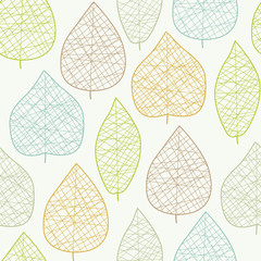 Seamless autumn leaf pattern. Vector illustration