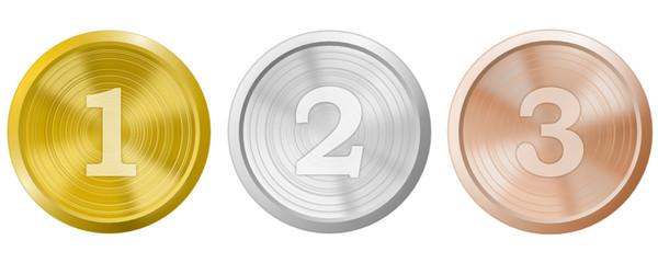 Medaillen Platzierung Set