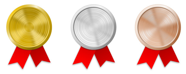 Plaketten Gold Silber Bronze
