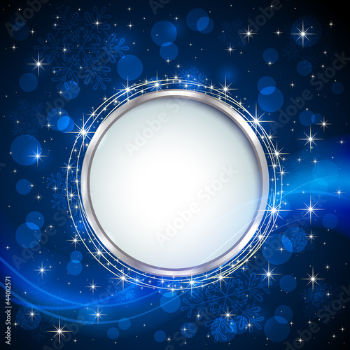 Blue shiny background
