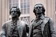 Leinwandbild Motiv Goethe Schiller Denkmal