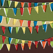 Party pennant bunting. Happy holiday background, vector, EPS10
