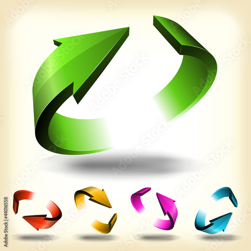 Abstract Circular Arrows Set