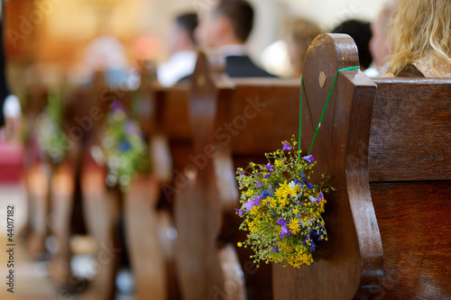 Beautiful wild flowers wedding decoration