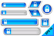 Internet-security blue buttons set