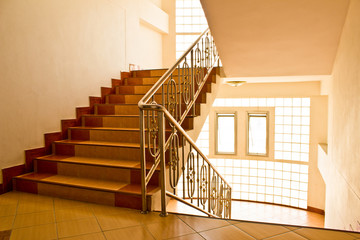Dormitory stairs.