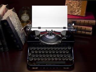 Retro Typewriter & Books
