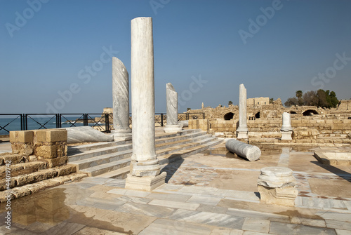 Roman rests of the Caesarea town, Israel