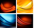 Set of business elegant colour abstract backgroundss