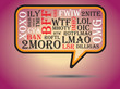 Постер, плакат: Most commonly used chat and online acronyms and abbreviations on