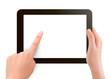 Hands holding digital tablet pc  Vector illustration