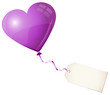 Flying Purple Heart Balloon & Beige Label