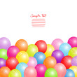 Birthday Card Colorful Balloons Background