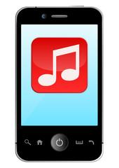 Smartphone mit Musik Icon