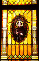 Friar Junipero Serra Stained Glass Immaculate Conception Church