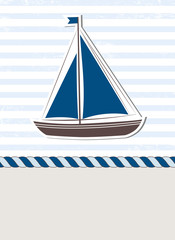 Sea background with boat