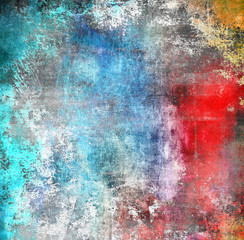 Grunge colorful background, scratched texture