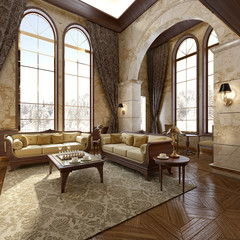 Modern Luxury Interior in the winter