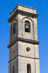 Belltower Cathedral of St. Margherita.Tarquinia. Lazio. Italy.