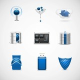 networking universal vector icon set