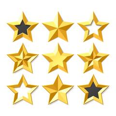 Gold stars set