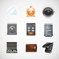 finance vector icon set