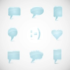 Speech vector icon set