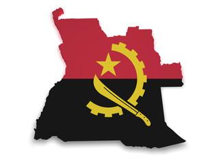 Angola Map 3d Shape