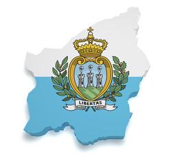 San Marino Map 3d Shape
