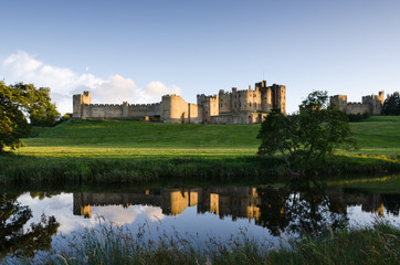 Alnwick Castle reflected