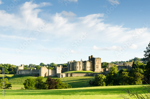 Distant Alnwick Castle