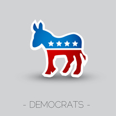The symbol of  the Democratic party of the USA