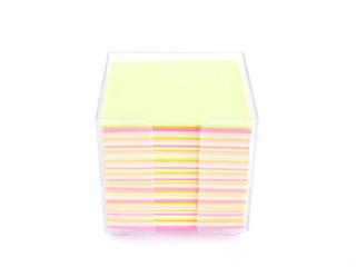 hojas de notas de colores