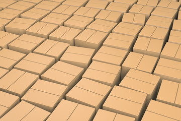 Brown cube boxes.