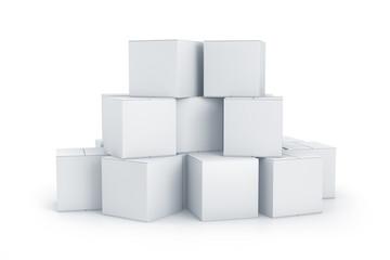 White cube boxes.
