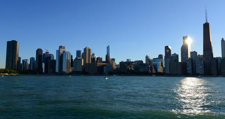 Skyline of Chicago from Lake Michigan