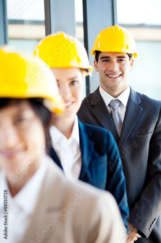 group of construction manager portrait