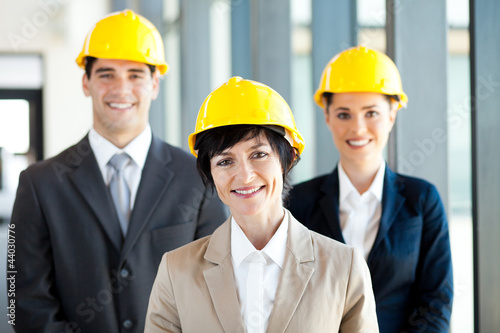 group of construction businessman and businesswoman portrait