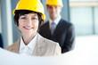 middle aged construction businesswoman closeup portrait