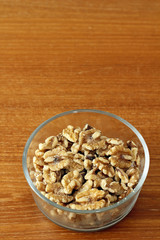 Bowl of Shelled Walnuts