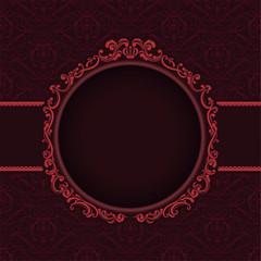 Vector illustration vintage frame seamless pattern background