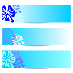 FLORAL BANNERS new blue