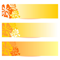 FLORAL BANNERS new orange