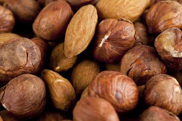 walnuts and almonds